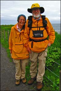Photo of Fred & Donna Austin on the Fife Coast Path